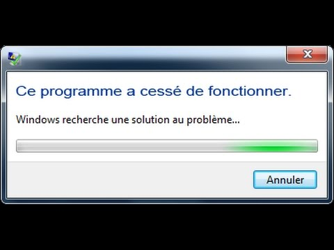 Comment résoudre le probléme de [ a cessé de fonctionner ] facilement sur PC !!!