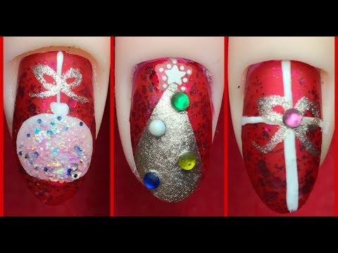 how to  💅🏻 elegant christmas nail design 2020 easy nail