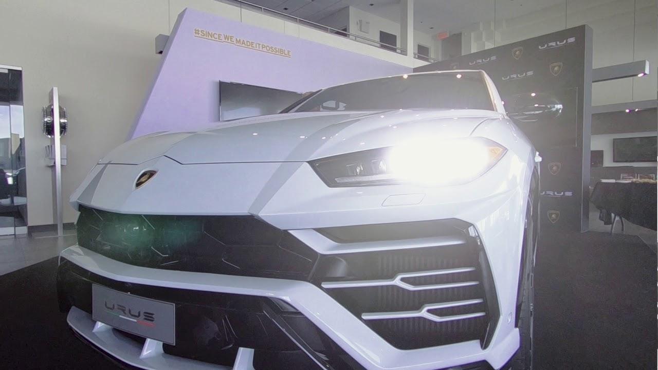 Lamborghini Urus Reveal In Montreal Canada Youtube