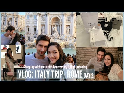 VLOG: ITALY TRIP- ROME DAY 2♥ SHOPPING WITH ME | ANGELBIRDBB