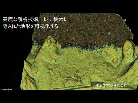 航空レーザ測量システム SAKURAによる斜面調査 (転石調査) Lidar rock visualization