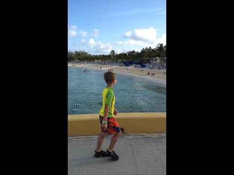 Parker Jax in Grand Turk, capitol of Turks & Caicos Islands, and wanting a underwater camera 8.13.13