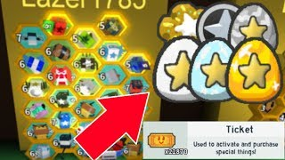 [Roblox] Bee Swarm Simulator: 10 GIFTED BEES SILVER STAR AMULET (BEST BEES)
