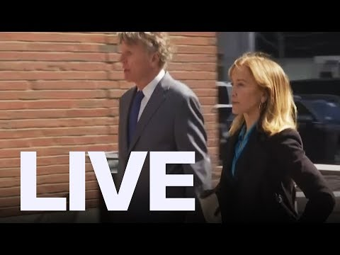 Felicity Huffman Arrives For College Admission Scam Hearing  ET Canada
