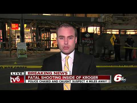 Person shot, killed inside Kroger on Indianapolis' south side