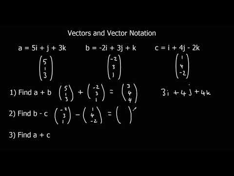 Vectors and Vector Notation