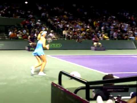 Maria Sharapova vs Dulgheru at Sony Ericsson Open 2011