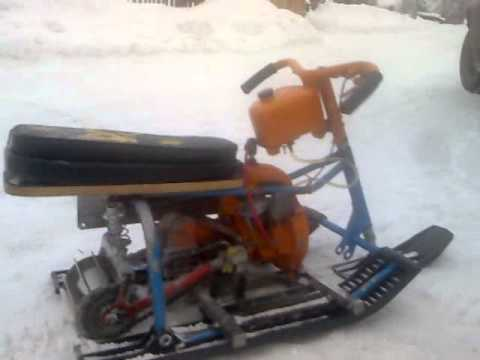 видео: small snowmobile (миниснегоход)