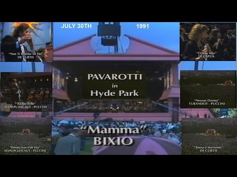 PAVAROTTI IN HYDE PARK -  LONDON - 30TH JULY 1991 - PART FOUR