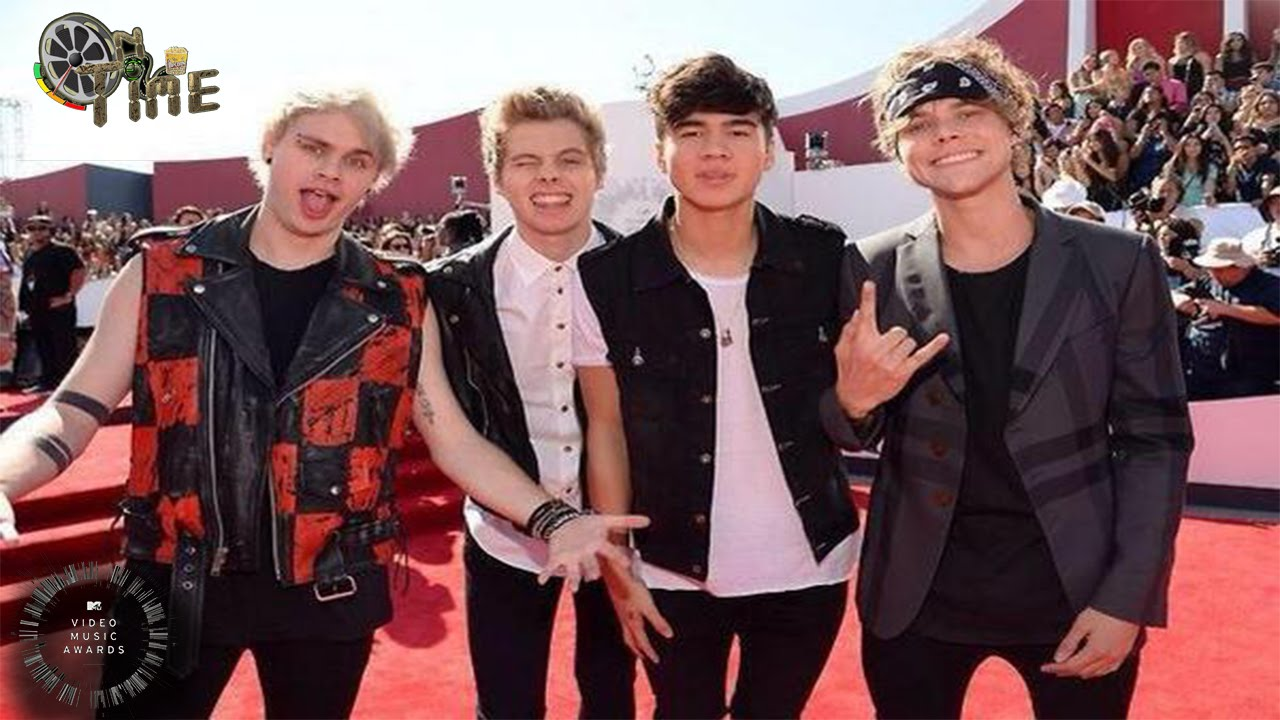 5 Seconds Of Summer At Red Carpet Mtv Vmas 2014 Mtv Video Music Awards 2014 Ontime Youtube