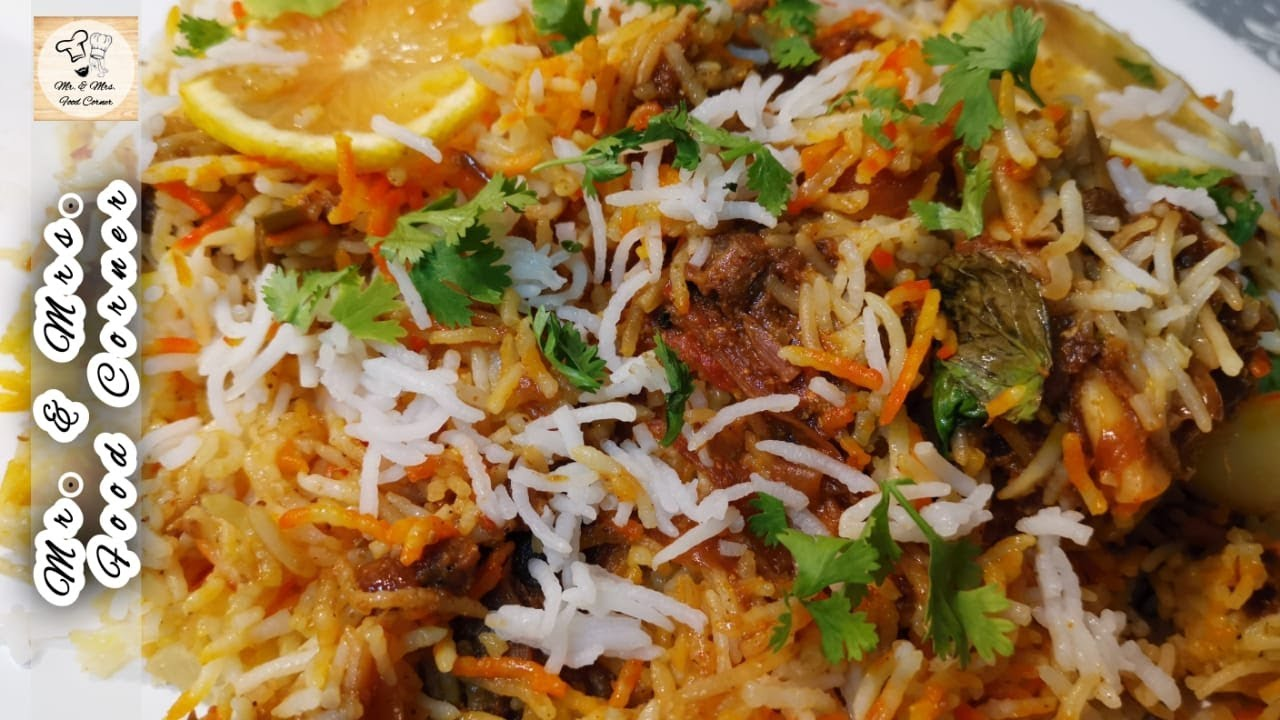 Mutton Sindhi Biryani Easy Recipe | Eid Special Recipe | Urdu Hindi | Mr and Mrs Food corner