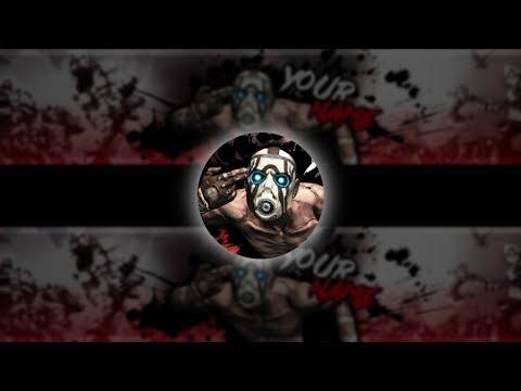 BORDERLANDS BANNER SPEEDART | Borderlands YouTube Banner Template