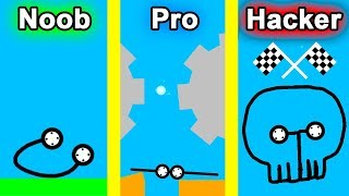 NOOB vs PRO vs HACKER - Car Drawing Game