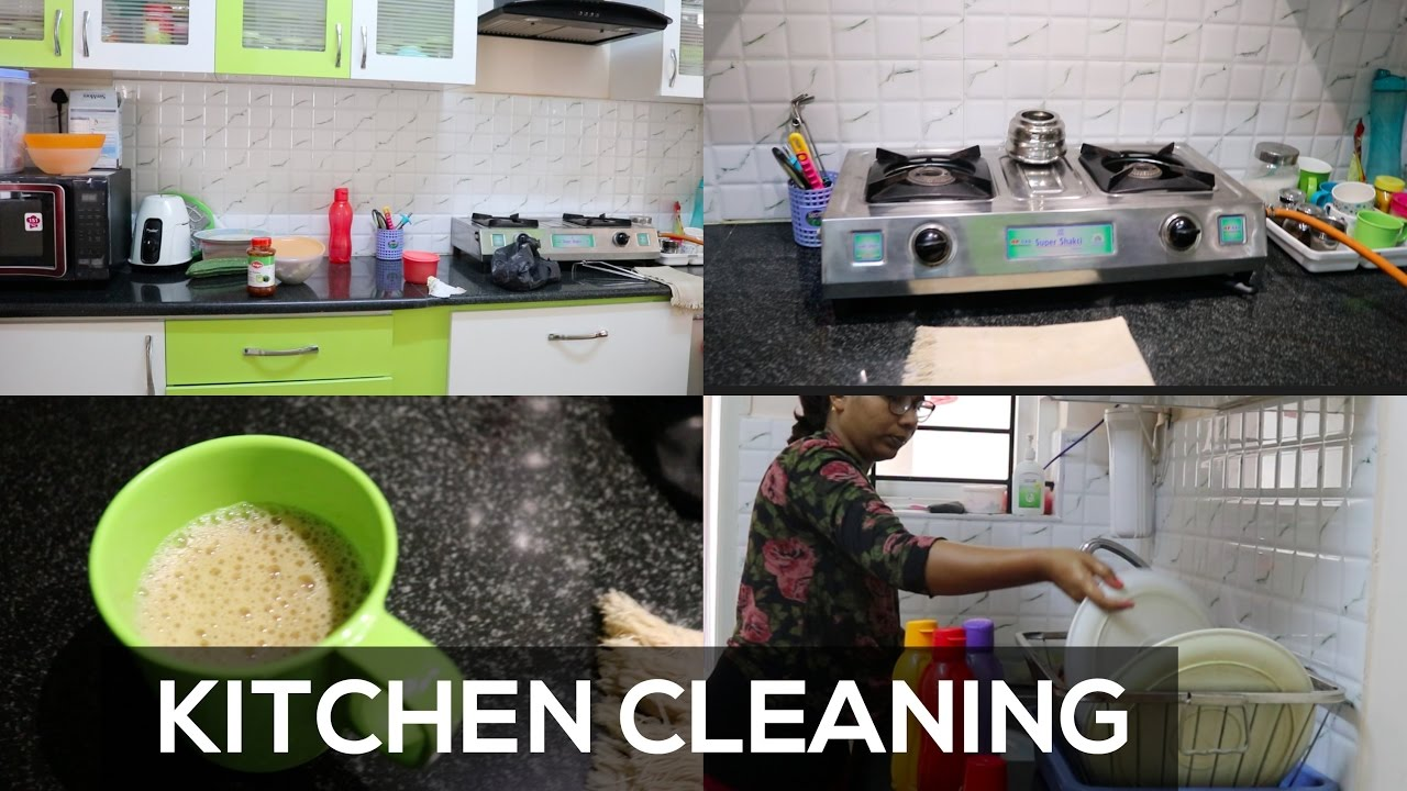 Indian Kitchen Cleaning Routine | Daily Kitchen Cleaning Routine ...