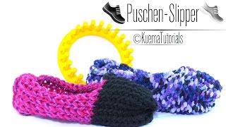 Knitting Loom - Slipper / Puschen Anleitung