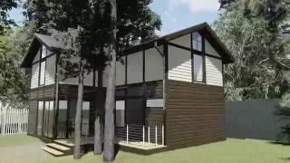 видео Проект каркасного двухэтажного дома площадью 132.50 м2