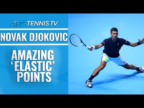 Amazing Novak Djokovic 'Elastic' Points