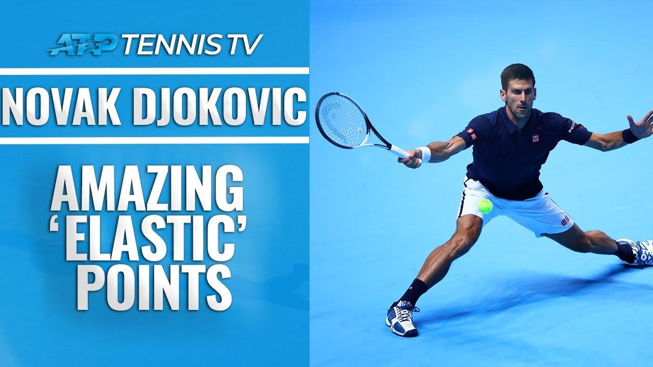 Amazing Novak Djokovic Elastic Points Youtube