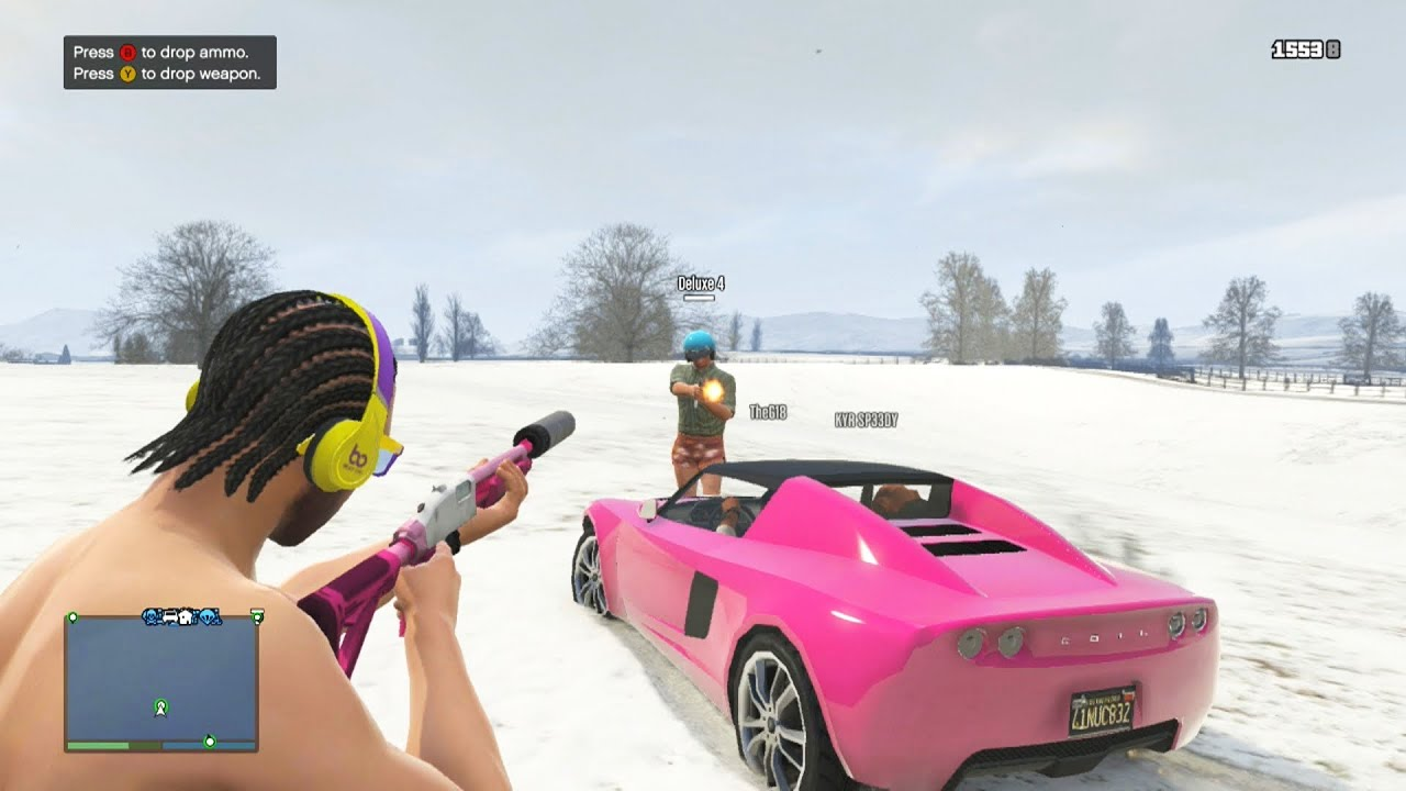 GTA 5 North Yankton Glitch Funny Moments (GTA Online Christmas DLC ...