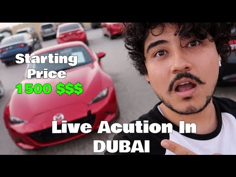 Live Auction In DUBAI Amazing Cars ( INSANE PRICES )