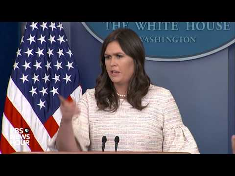WATCH: White House holds daily press conference amid Syria tensions