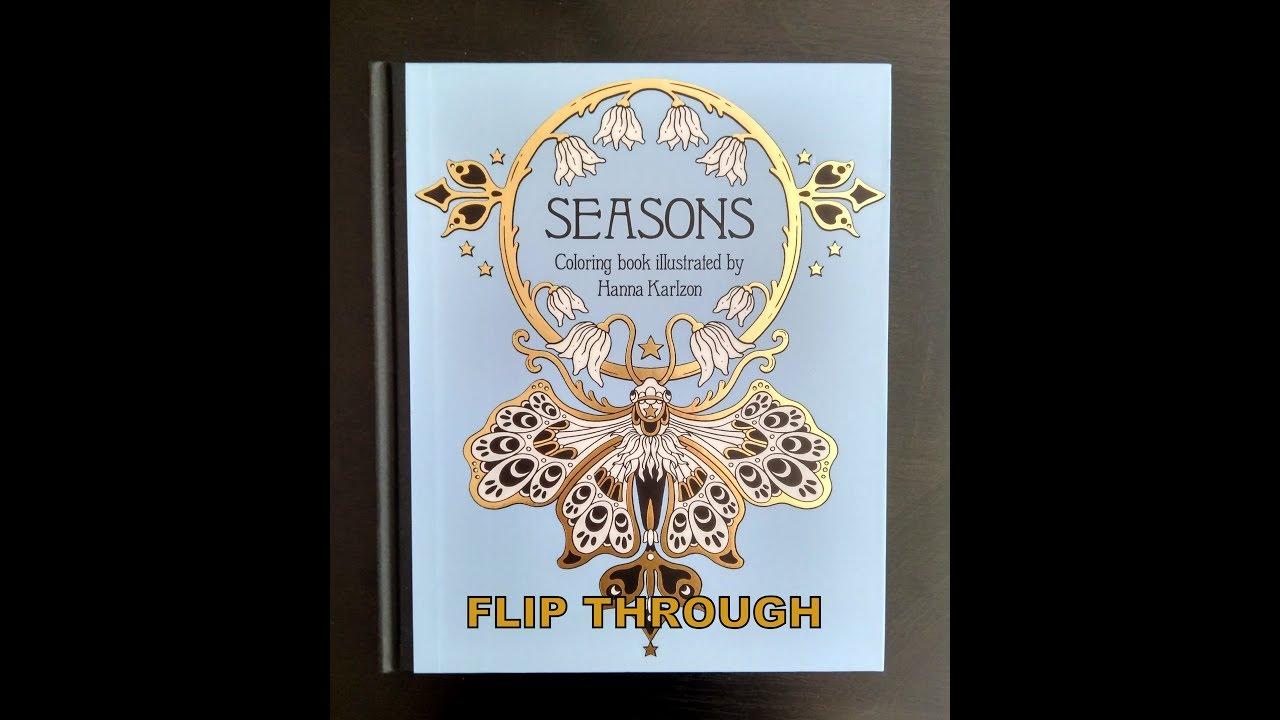 Flip Through Seasons Coloring Book By Hanna Karlzon Youtube