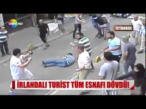 Irish Tourist boxed 15 Turks in Aksaray, Istanbul Full video [ Bir irlandali turist 15 Türkü dövdü ]