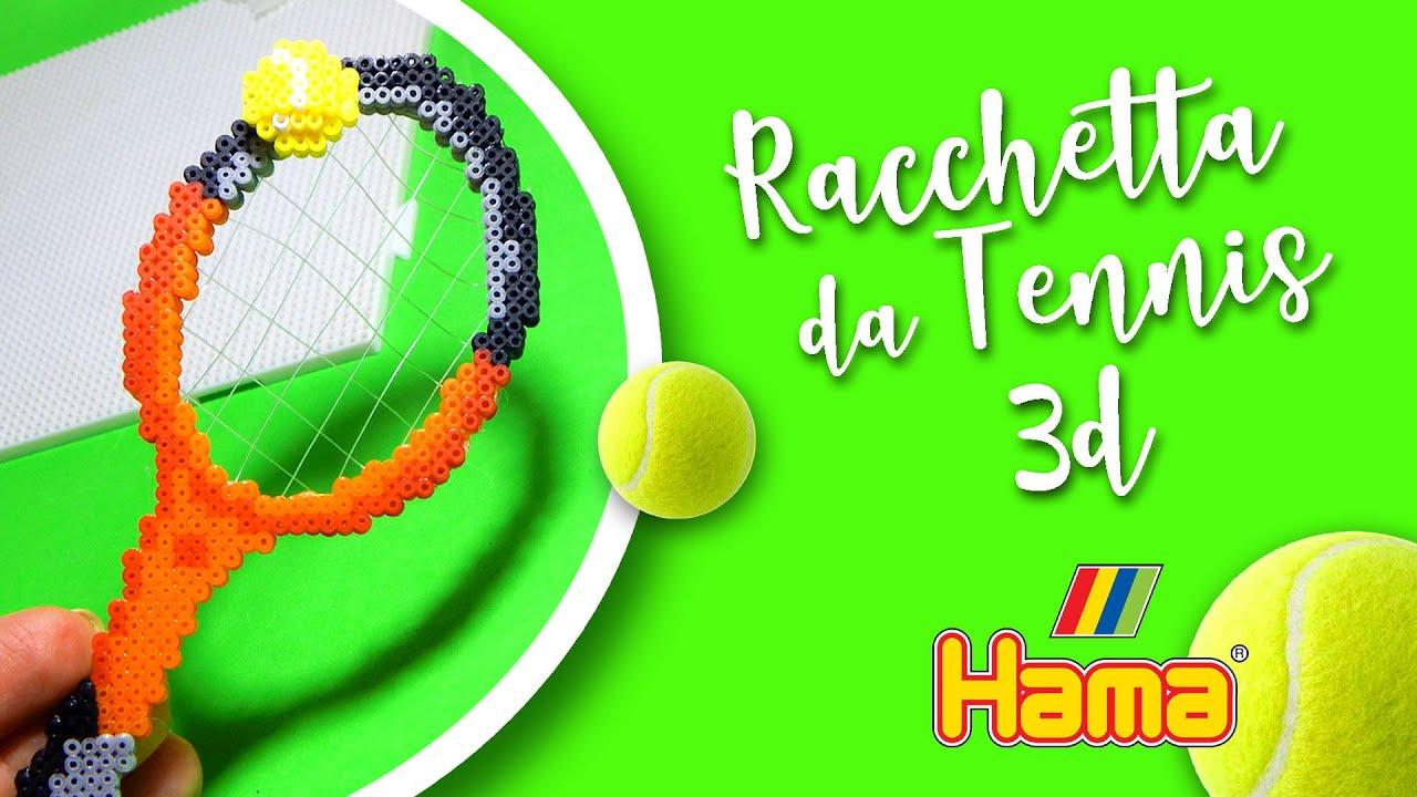 Tutorial RACCHETTA DA TENNIS 3D con Hama Beads - Perline da Stirare Serie Sport
