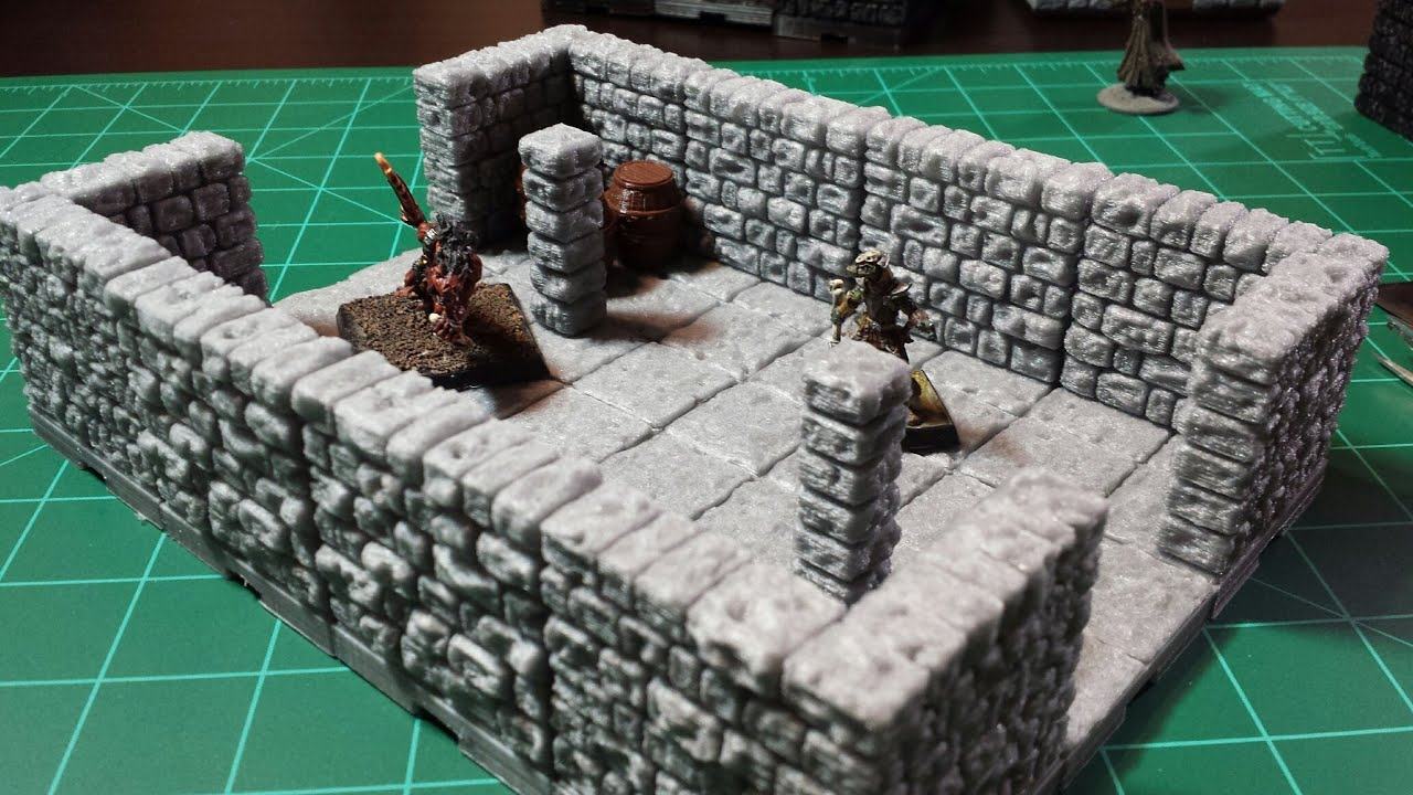image about 3d Printable Dungeon Tiles named Dragonlock 3d Printable Dungeon Terrain - Main Preset Research