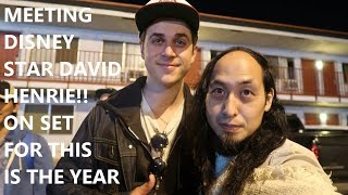 MEETING DISNEY STAR DAVID HENRIE!! ON SET FOR THIS IS THE YEAR