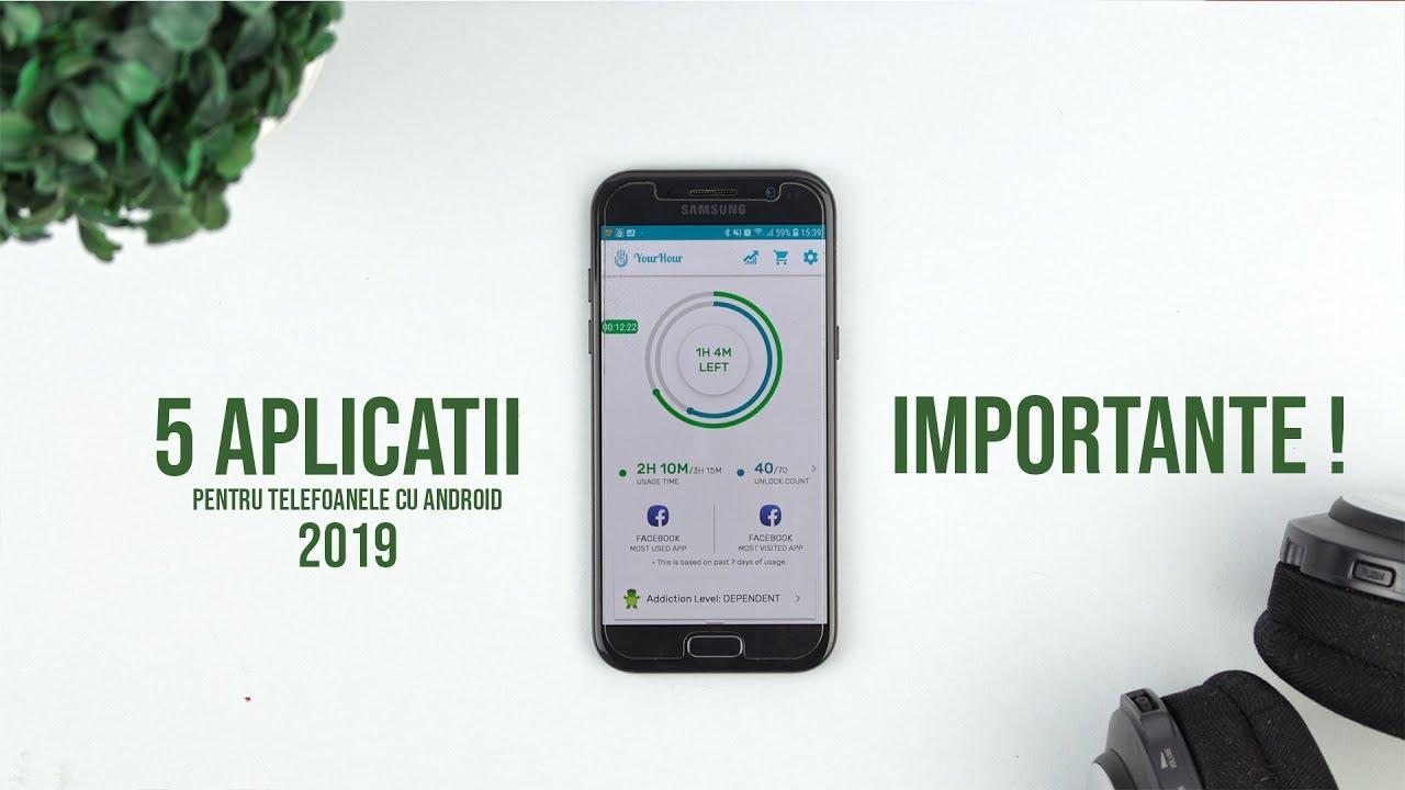 Top 5 APLICATII 2019 IMPORTANTE pentru Android  !