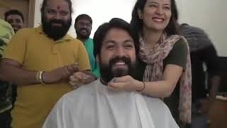 Yash(rocky) Removing Beards after #KGF Completion