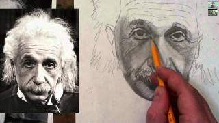 How to Draw Albert Einstein Step by Step Drawing Tutorial