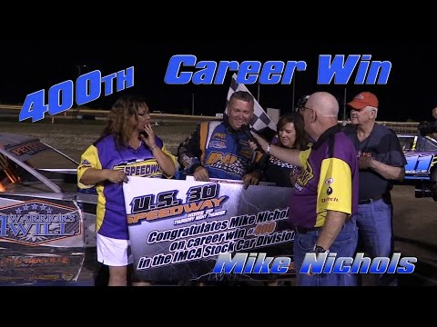 IMCA Stock Car US 30 Speedway 6 23 16 Mike Nichols 400th Career Wins