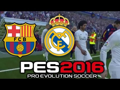 Pro Evolution Soccer 2016 FC Barcelona Vs Real Madrid (1080p 60fps)