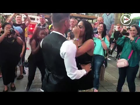 Surprise! South African pops the question in New York Times Square
