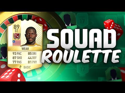 FIFA 17 SQUAD ROULETTE!!! LEGEND GEORGE WEAH!!! New Squad Builder Series!!!