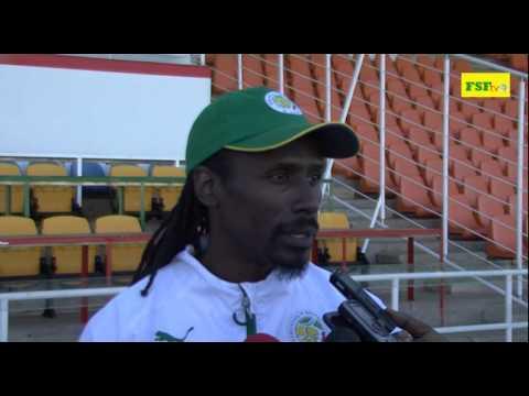 Interview Aliou Cissé, séance d'avant match contre la Namibie