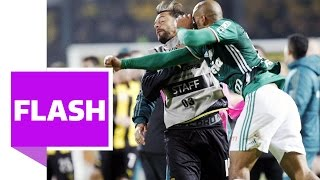 Massenschlägerei in Südamerika: Ex-Juve-Star prügelt auf Gegenspieler ein, Zé Roberto mittendrin