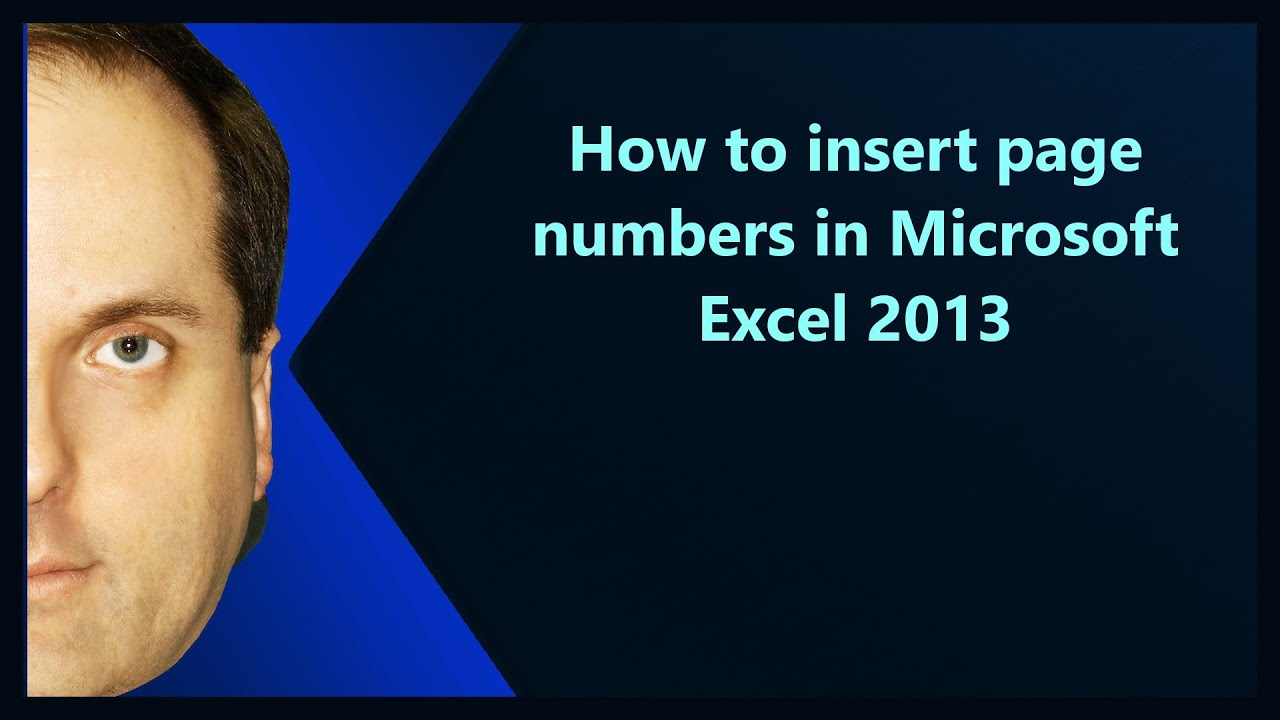 How To Insert Page Numbers In Microsoft Excel