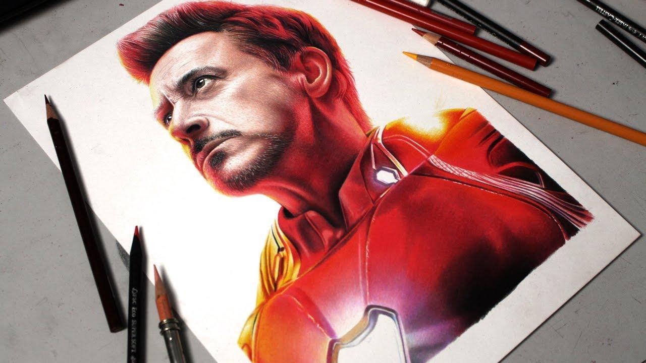 Desenhando O Homem De Ferro Tony Stark Vingadores Youtube