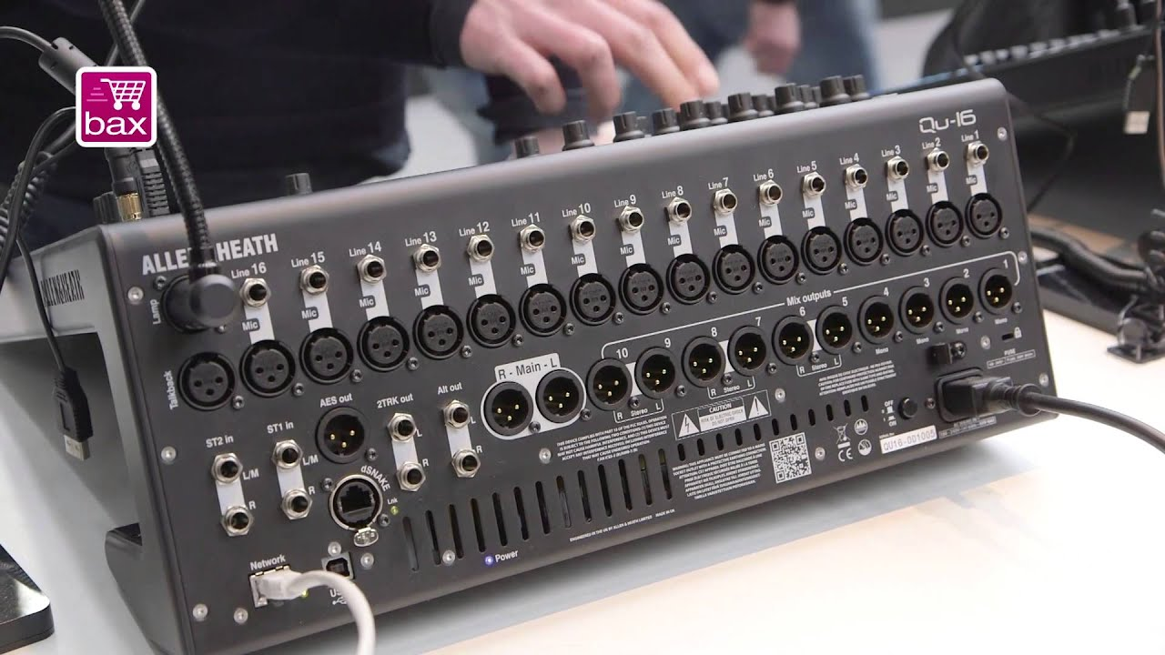 musikmesse 2013 allen heath qu 16 youtube. Black Bedroom Furniture Sets. Home Design Ideas