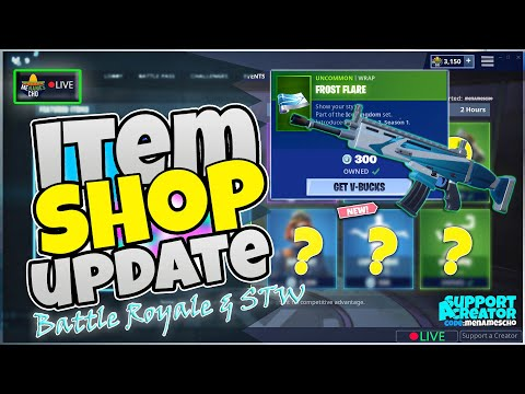 💥menamescho's-live-🔵-frost-flare-wrap-🥶-item-shop-update-⚡-fortnite-battle-royale---6th-jan-2020