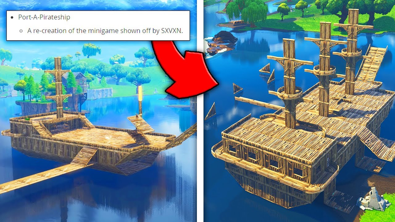 epic games building my pirate ship in fortnite fortnite custom game - fortnite pirate ship creative