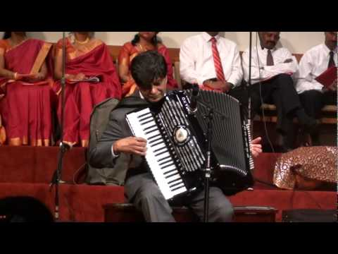 Blessed Assurance - Dr Anand Chellappa- Playing accordian on his 70th Birthday
