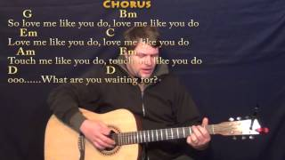 Love Me Like You Do - Strum Guitar Cover Lesson with Chords/Lyrics