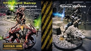 Chaos Vs Space Wolves Warhammer 40,000 7th Edition Battle Report