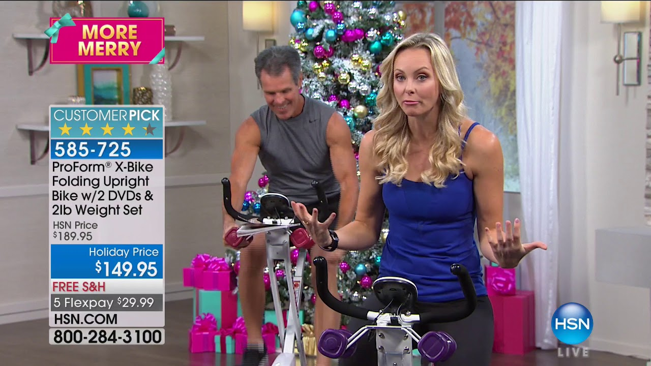 hsn proform fitness featuring x bike 11 pm