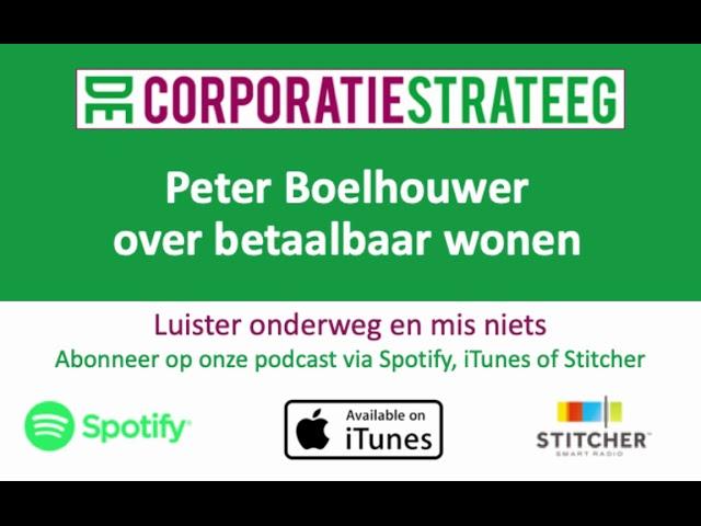 Peter Boelhouwer (TU Delft) over de betaalbaarheid van het wonen