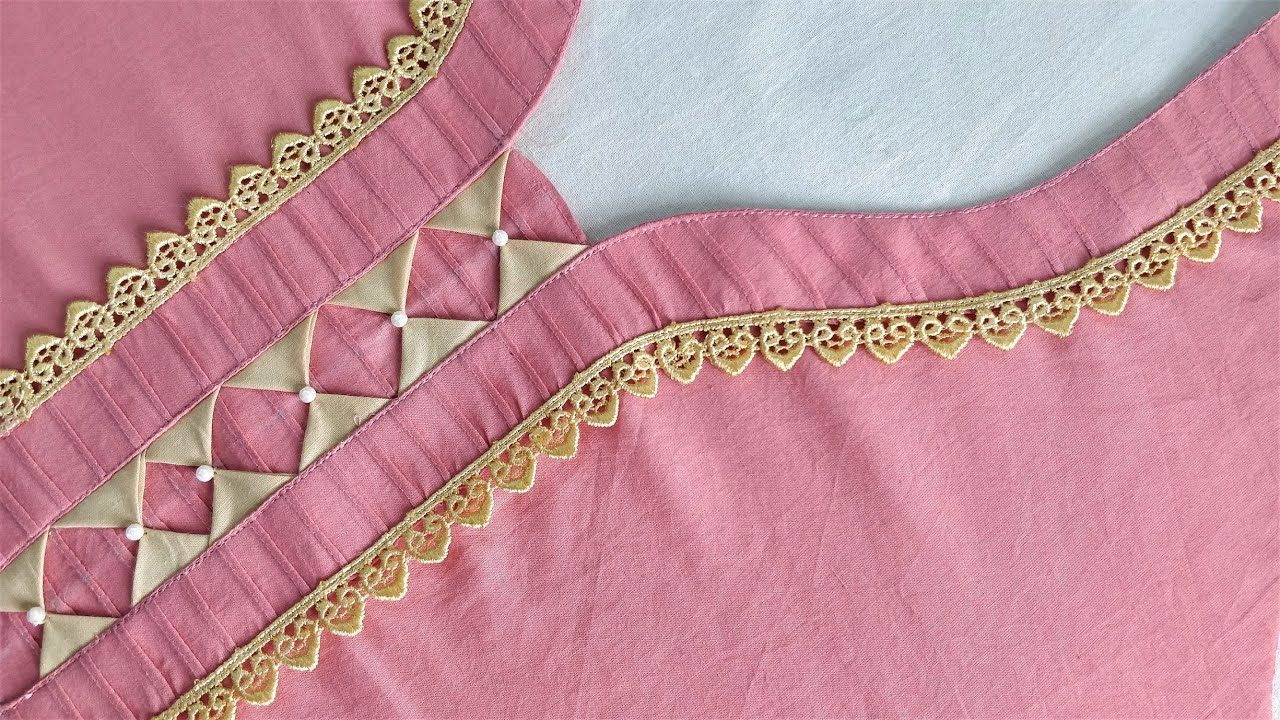 Ready-Made Style Neck Design for Suit/Kurti Cutting and Stitching